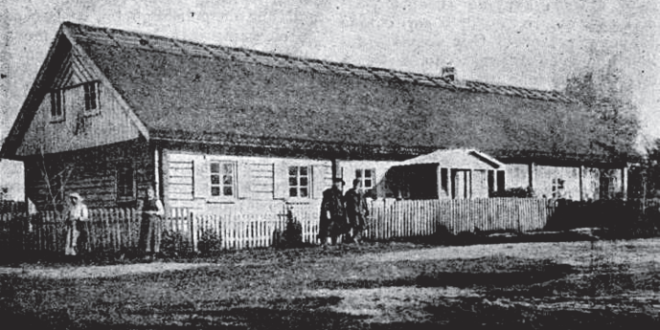 The home of Vincas Kudirka in Paežeriai. Photo from 1911