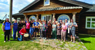 Village Harmony in Lithuania. Group leader, Will Thomas Rowan, is on the far left.