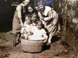 Bathing in Oklahoma. A photo from the personal archive of Carol (Palonis) Mealy.