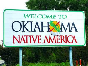 Oklahoma sign.