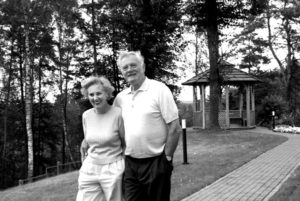 Alma and Valdas Adamkus in Lithuania.