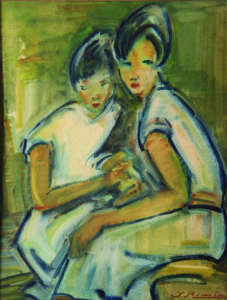 Jonas Rimša. Mergaitės su baltu tuniku