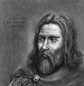 Daumantas, Nalšios ir Pskovo kunigaikštis (Dail. Artūras Slapšys)