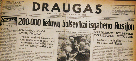 Bolsheviks transported 200,000 Lithuanians to Russia. July 22, 1941
