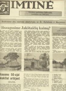 """Kazio Račkausko leistas laikraštis ,,Gimtinė"""""""