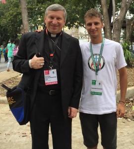 R. Norvila ir savanoris iš Panevėžio R. Dundulis