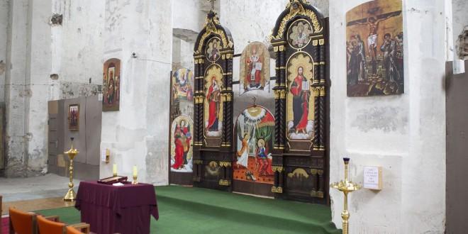 Vilniaus unitų bažnyčia iš vidaus.