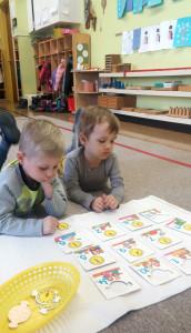 Užsiėmimai Montessori mokykloje.