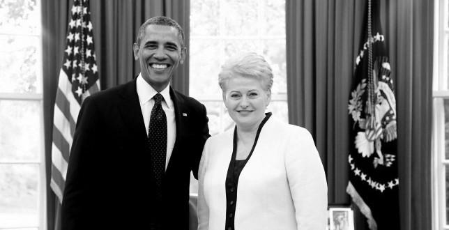 Prezidentai Barack Obama ir Dalia Grybauskaitė.