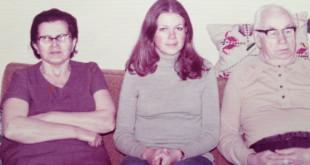 Birutė su tėvais Čikagoje.