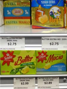 Palyginimui – lenkiško ir lietuviško sūrio kainos.