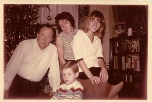 Karilė Baltrušaitytė su šeima.
