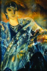 Sofija Veiverytė. Beatričės portretas. Drobė, aliejus.