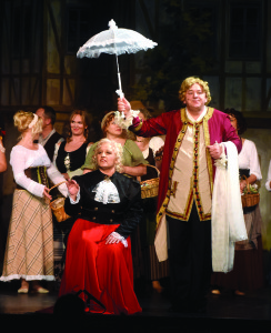 """Viena iš operetės """"Paganini"""" scenų."""