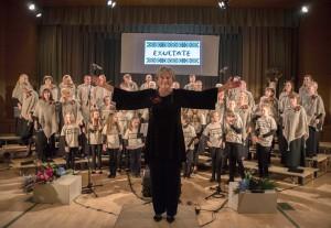 """Exultate"" choro dirigentė Rita Kliorienė."