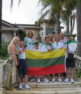 Specialiosios Olimpiados delegacijos atletai ir treneriai, kurie apsistojo mūsų namuose.