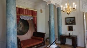 Rūmuose išliko ir grafienės miegamasis.