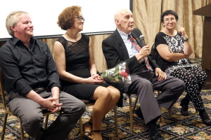 Arvydas Reneckis, Agnė Marcinkevičiūtė, Arnoldas Voketaitis ir muzikologė Danutė Petrauskaitė.
