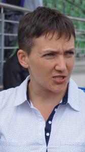 Nadia Savčenko kvietė branginti laisvę.