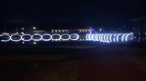 "R. Bartkaus instaliacija ""Tiltai""."