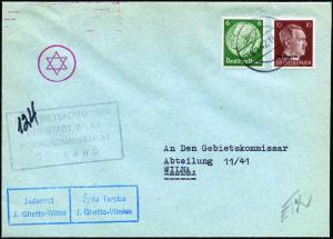Tik po 40 aistringų paieškos metų Ženevoje pavyko užtikti voką, išsiųstą iš Vilniaus geto.