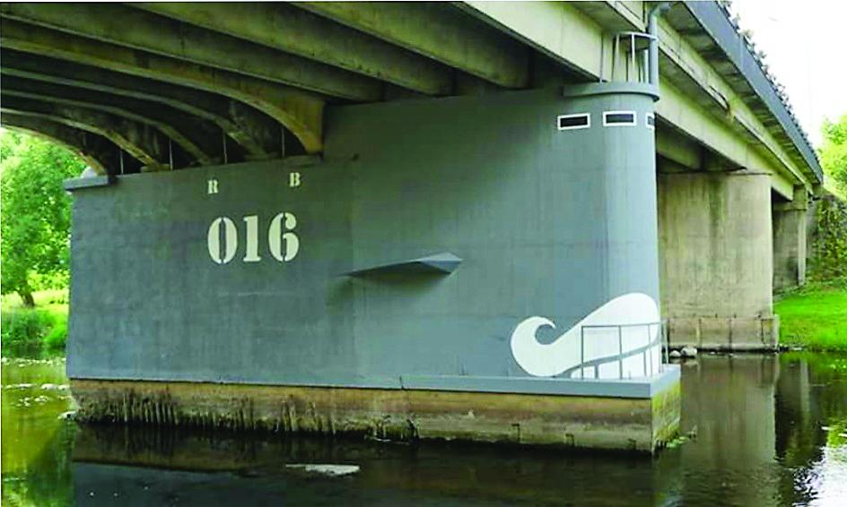 Povandeninis Ray Bartkaus laivas Šešupėje.