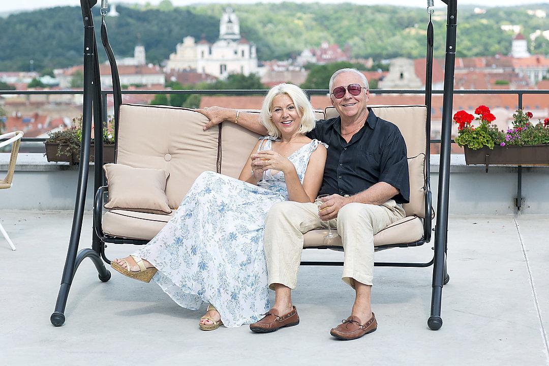 R. V. Petrauskas su žmona.