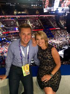 Tony Maciulis su kolege Katie Couric dalyvavo JAV Respublikonų partijos nacionaliniame suvažiavime.