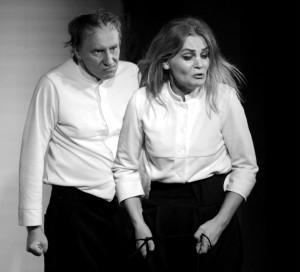Pagrindinio vaidmens atlikėjas Vidas Vaškius (Jurgis Rutkus) ir Andra Virbičianskienė.