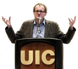 Leonidas Donskis kalba Illinois universiteto, Lietuvių katedros jubiliejaus iškilmėse.