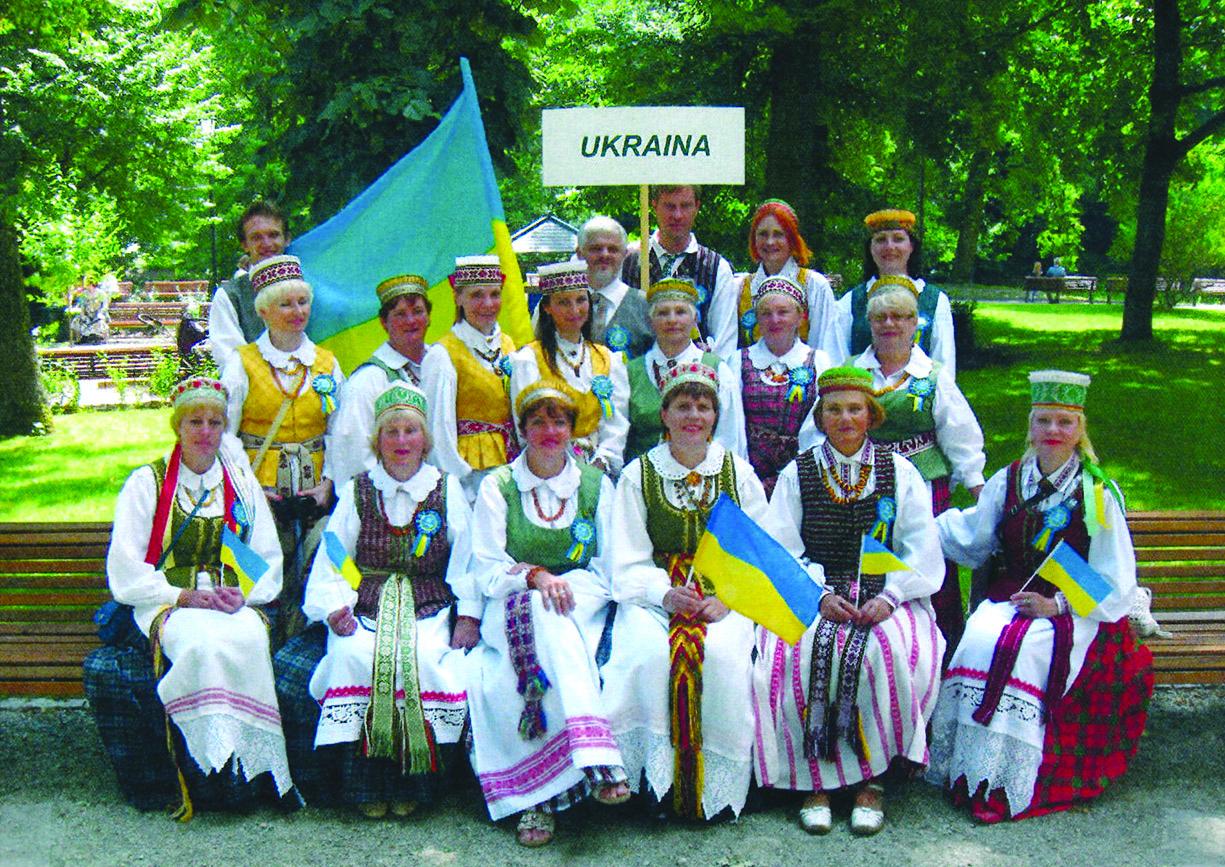 """Kijevo Maironio lietuvių kultūros draugijos choras """"Viltis"""" Dainų šventėje Vilniuje2014 m."""