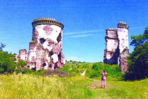 Chervonhorodo pilies griuvėsiai.