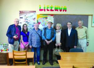 Čiurliono lituanistinės mokyklos patalpose, Lvove, Ukrainoje.