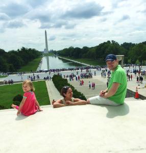 Šeimos išvyka į JAV sostinę Washingtoną.