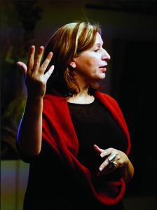 """Galerijos """"Siela"""" direktorė Asta Zimkienė."""
