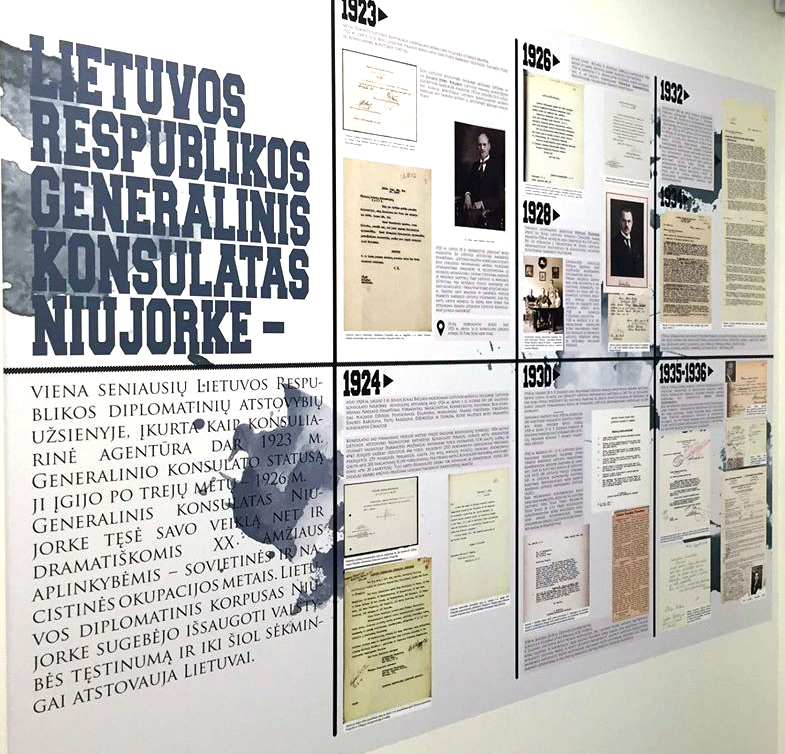 Ekspozicija Lietuvos generaliniame konsulate New Yorke.