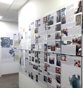 Lietuvos generaliniame konsulate New Yorke atidaryta konsulato veiklos 90-mečiui paminėti skirta ekspozicija.
