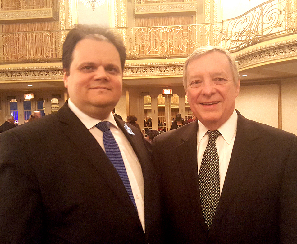 Generalinis konsulas M. Gudynas su senatoriumi R. Durbin.