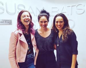 Dainininkė Lina Štalytė (k.) kartu su draugėmis kelias savaites lankė pamokas Susan Batson Studio dramos mokykloje Manhattane.