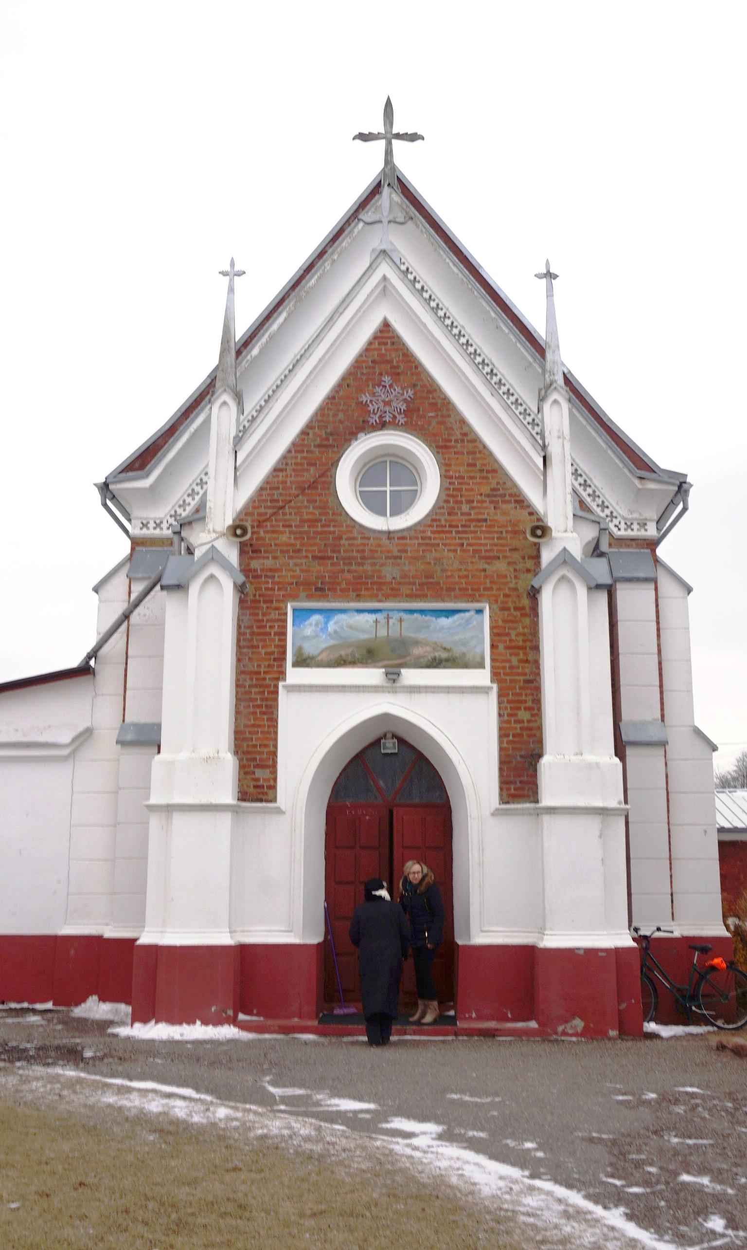 Alvito šv. Onos koplyčioje K. Bradūnas buvo pakrikštytas.