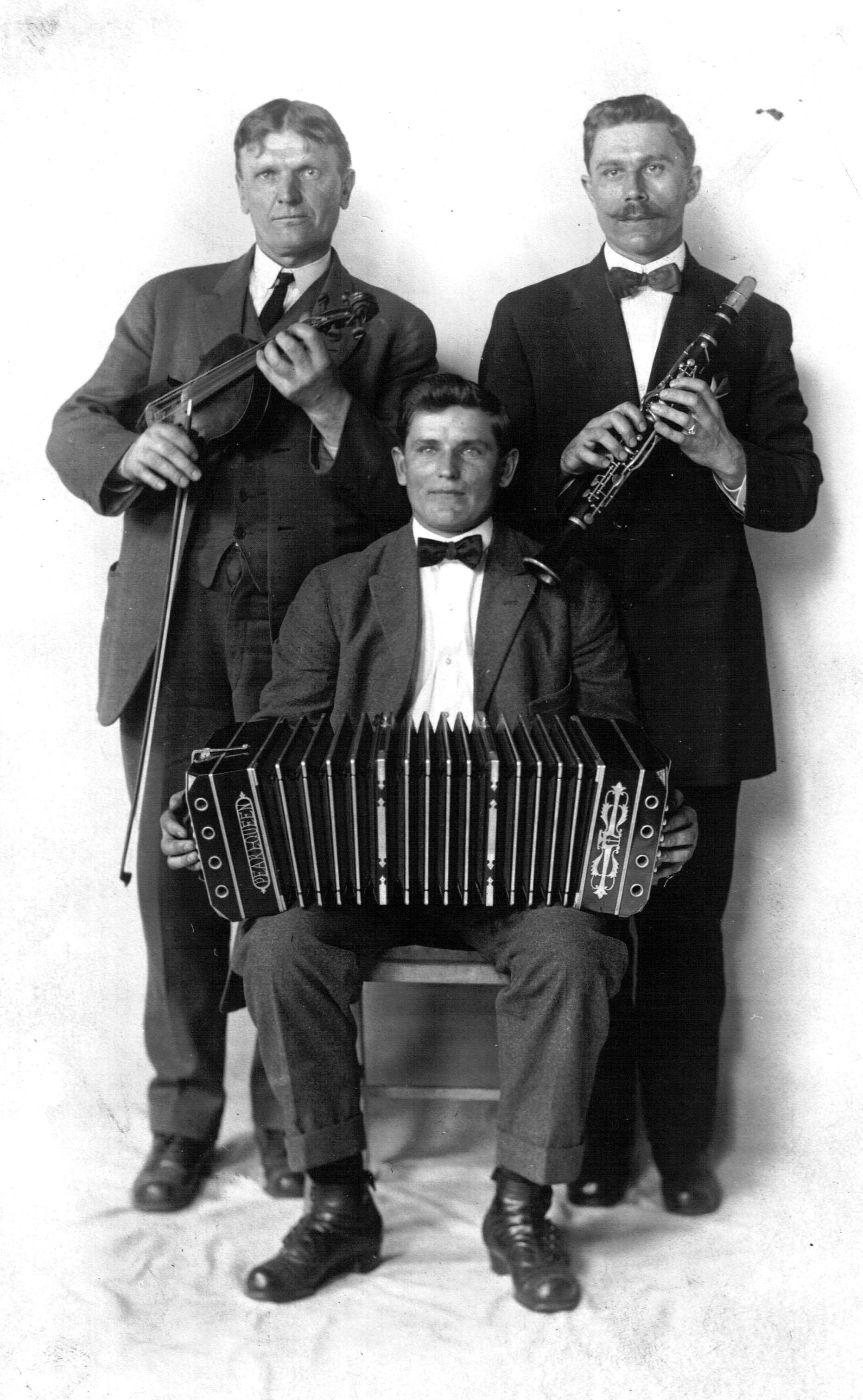 Springfieldo vestuvinė muzikantų trijulė.