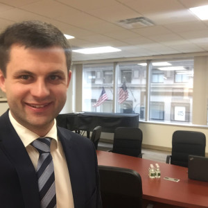 J. Jarusevičius Lietuvos generaliniame konsulate New Yorke.