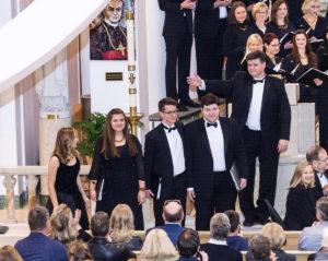 Keturi Mozarto Mišių solistai.