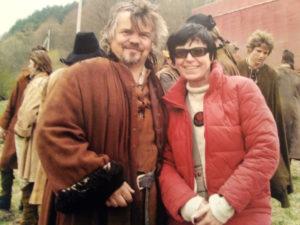 """Dalia Daugilytė su """"Robin Hood"""" kūrėjais amerikiečiais."""