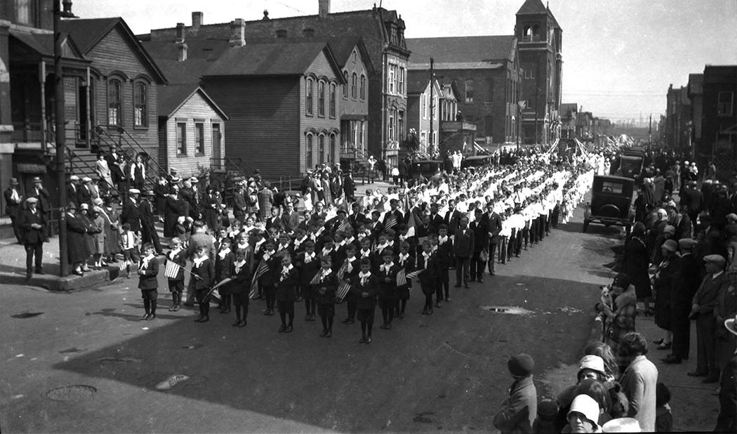 Dievo Apvaizdos naujos bažnyčios pašventinimo iškilmių procesija, 1927 m.