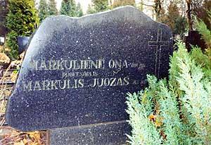 J. Markulio kapas Vilniaus kapinėse.