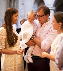 M. Bekešius su žmona Egle tapo mažosios Petros krikštatėviais.