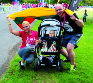 Su žmona Sigita ir sūnumi Tadu Vytautu Airijoje po vienų iš bėgimo varžybų 2013 m.