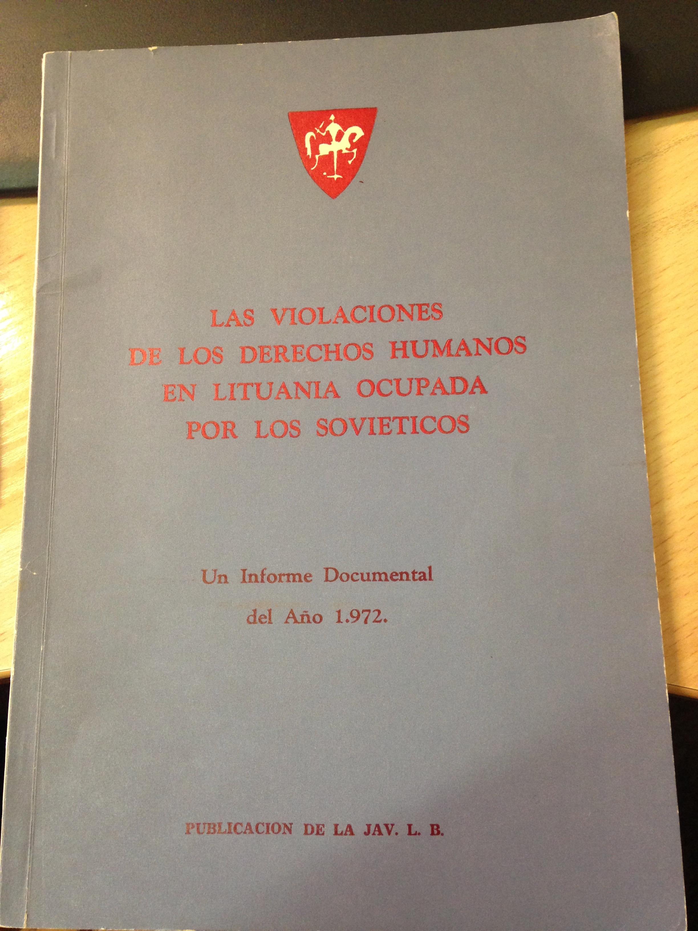 Senelio redaguota knyga ispanų kalba, kurią suradau M. Mažvydo bibliotekoje šią vasarą.