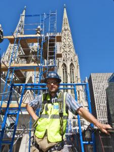 Neseniai Danius Glinskis darbavosi prie St. Patrick's katedros komplekso restauravimo.